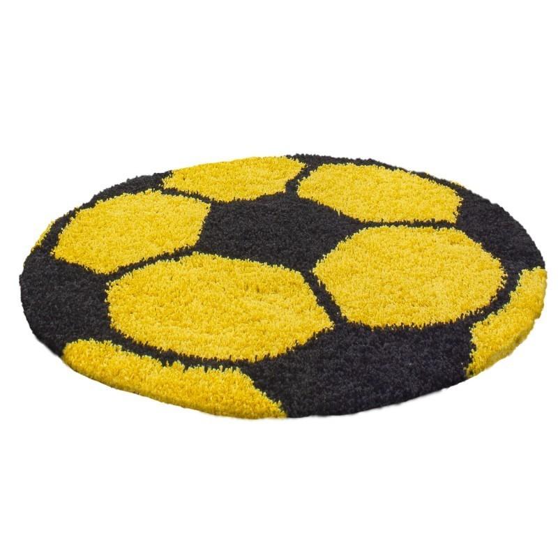 tapis enfant football pour chambre d enfant jaune noir