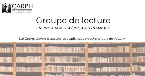 Groupe de lecture psychodynamique/psychanalyse: H21