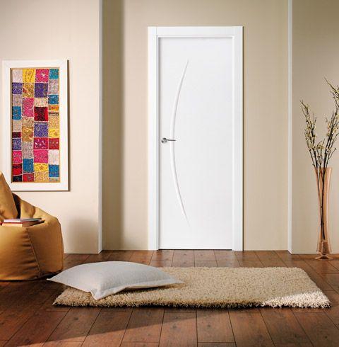 puerta lacada blanca