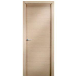 puerta madera maciza ranurada