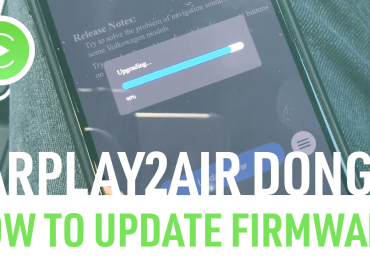 How to update the wireless CarPlay CPLAY2air dongle to the latest firmware