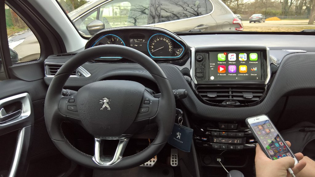 carplay installs factory fitted in a peugeot 208. Black Bedroom Furniture Sets. Home Design Ideas