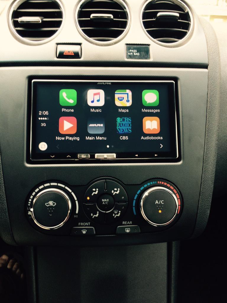 CarPlay Installs: Alpine iLX-700/007 in a Nissan Altima Coupe ...