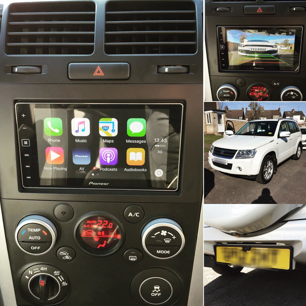 carplay installs pioneer sph da120 in a suzuki grand. Black Bedroom Furniture Sets. Home Design Ideas