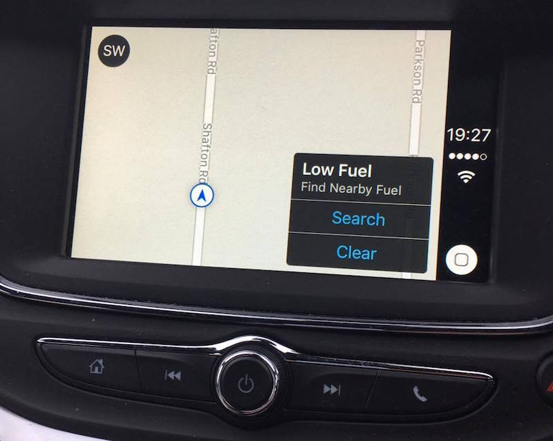 carplay low fuel edit