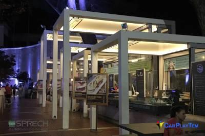 5 PERGOLA Q-BOX FISSO ILUMINACION LED INTEGRADA