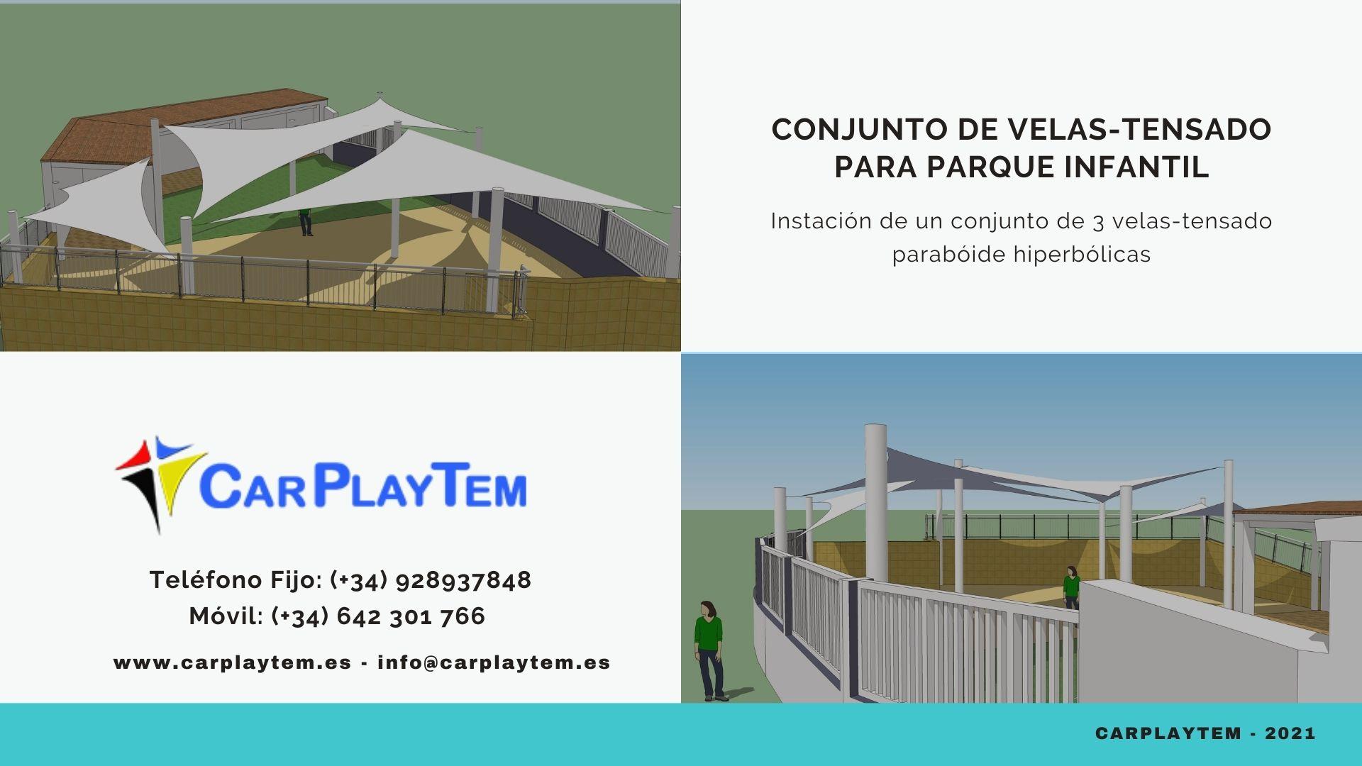 Conjunto de Velas-Tensado para parque Infantil - CarPlayTem