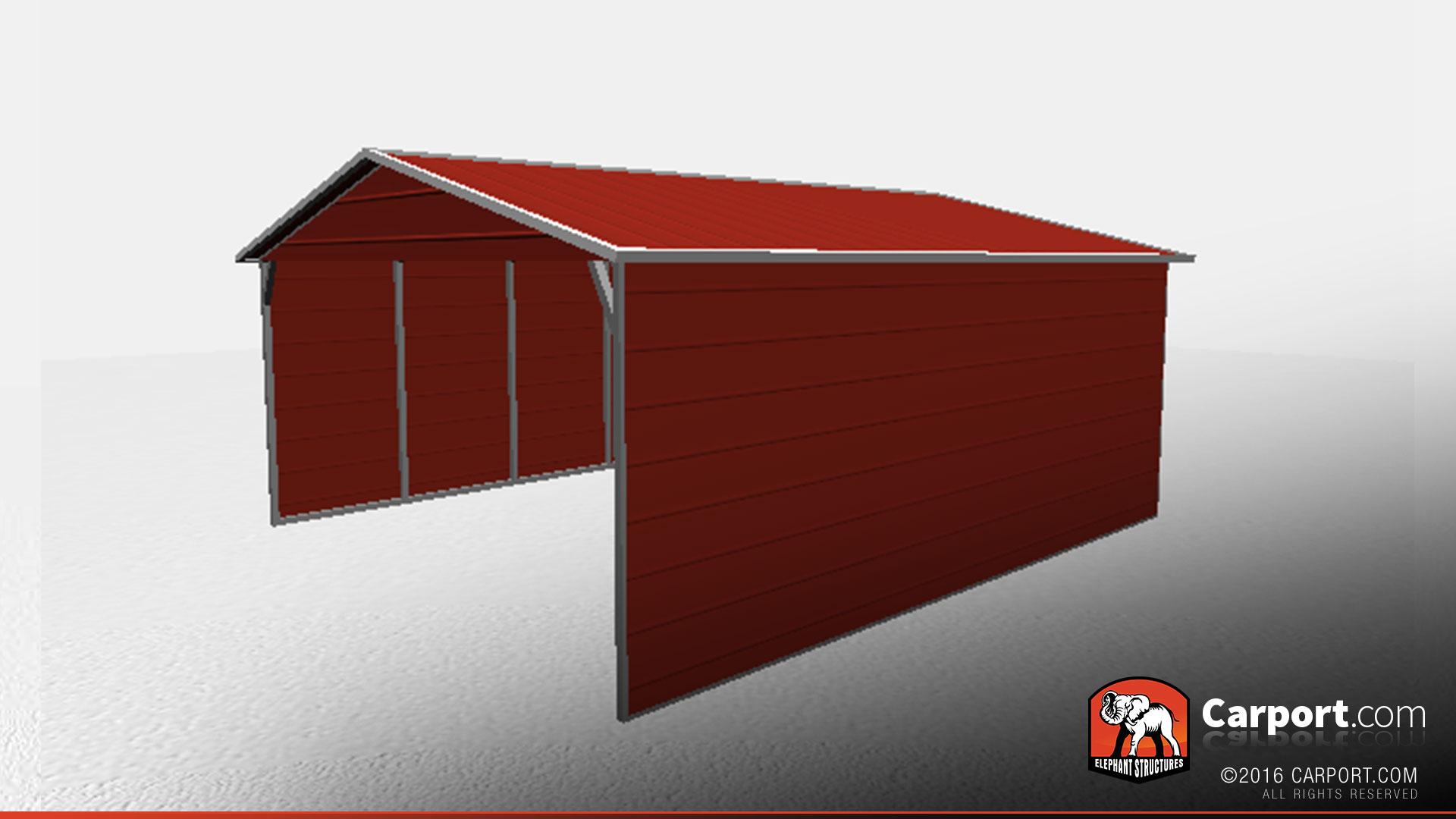 18 X 21 X 6 Vertical Roof Open Car Shelter Car