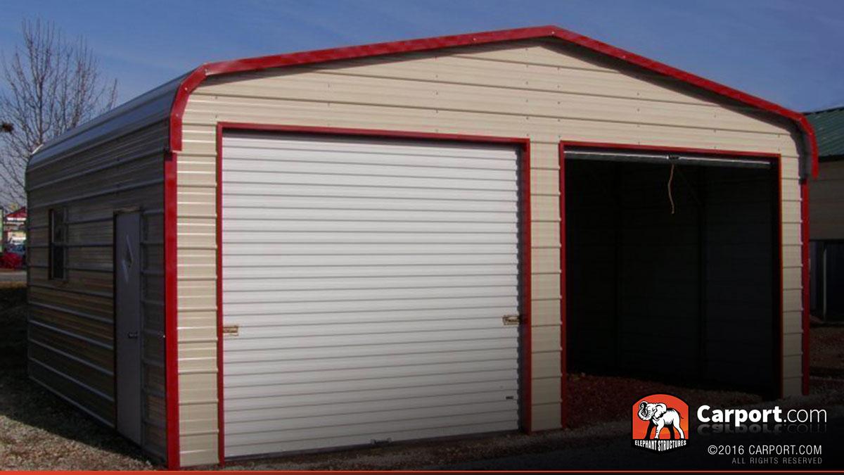 Metal Garage Two Car 18 X 21 X 9 Shop Metal Garages Online