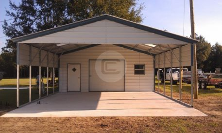 Utility Carports Benefits Of Metal Carport With Storage Shed