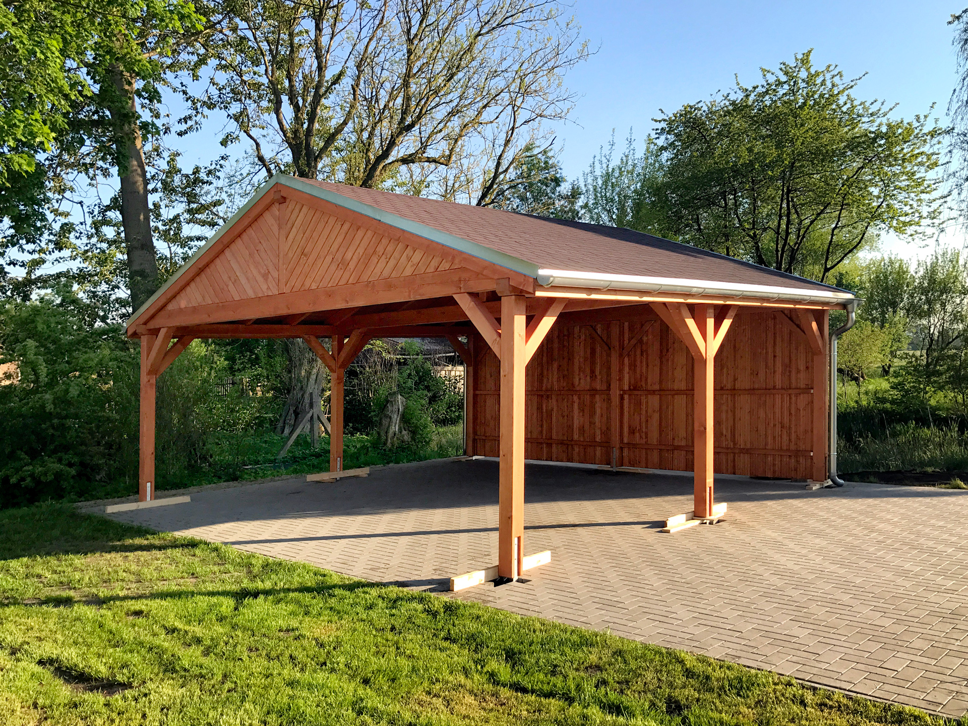 Carport satteldach amazing mit with carport satteldach mit