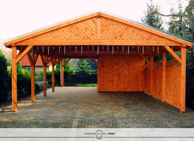 satteldach carport mit gipfel verkleidung holzprodukte aus polen. Black Bedroom Furniture Sets. Home Design Ideas