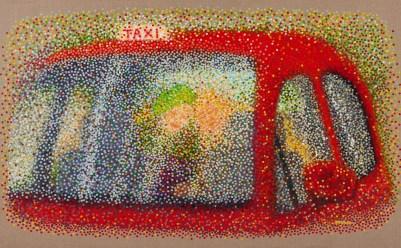 """""""Taxi"""" - Huile sur toile - 81x130"""