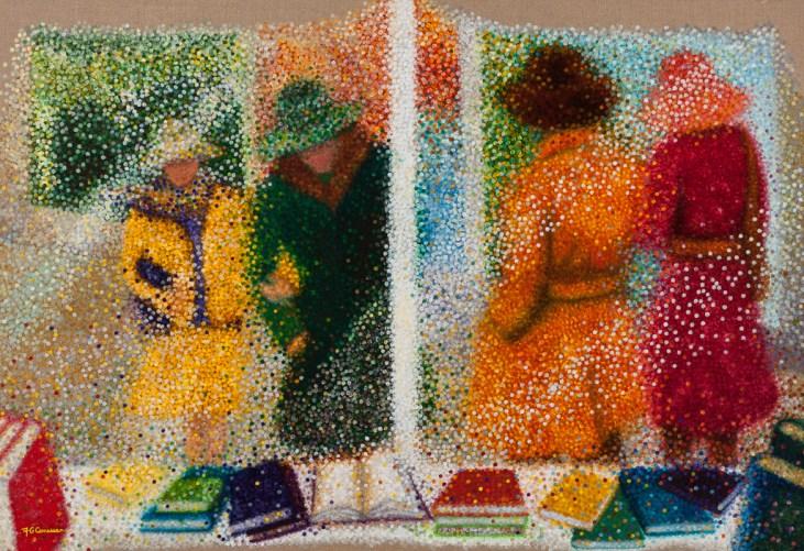 """""""Flânerie automnale"""" / """"Autumn Stroll"""" - Huile sur toile - 89 x 130 cm"""