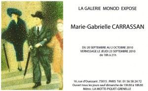 invitation Galerie Monod -Paris