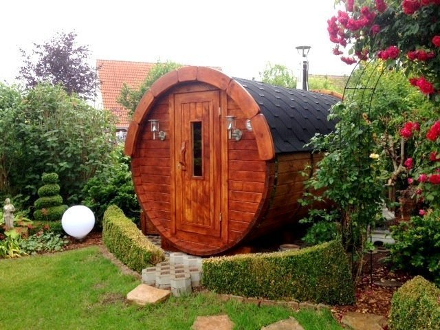 2.4m Pine Barrel Sauna