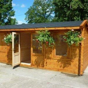 Crossley Dual 6m wide Log Cabin