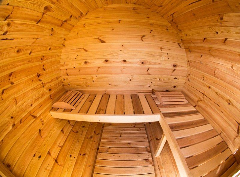 1.7m Pine Barrel Sauna