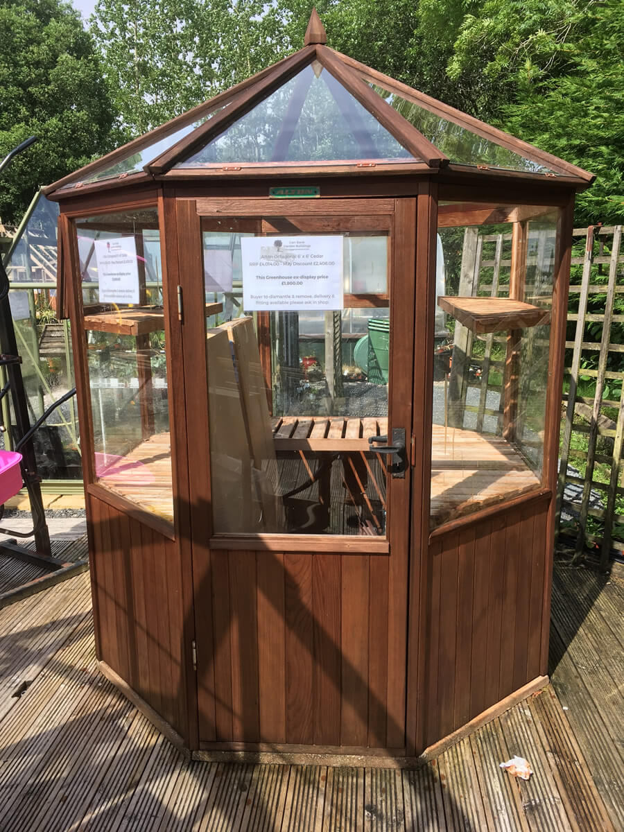 Alton Octagonal Cedar Greenhouse 6' x 6' ex-display SALE