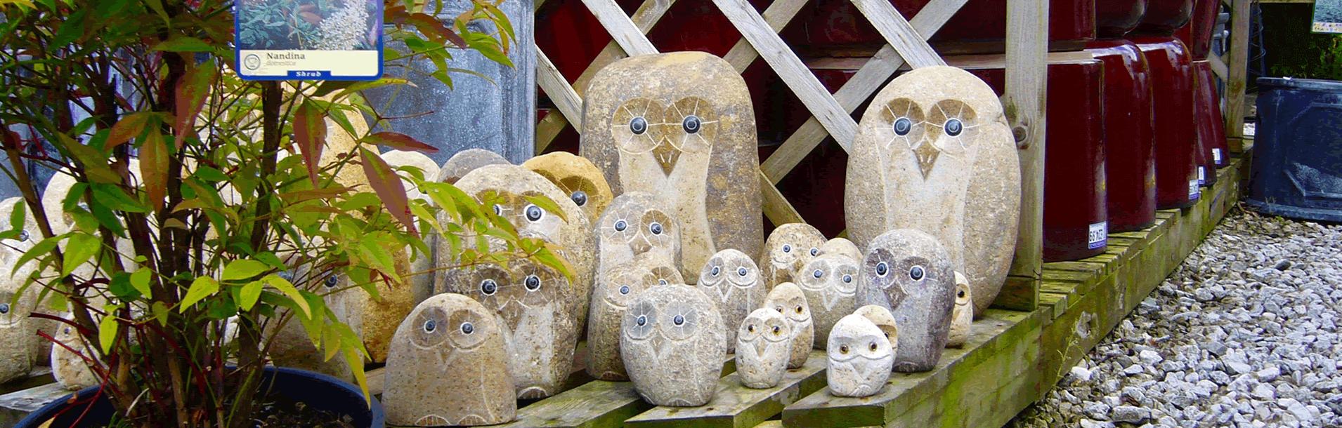 Stone Owl Garden Ornaments Carr bank garden centre pet supplies for everything your garden hand carved stone owls carr bank garden workwithnaturefo