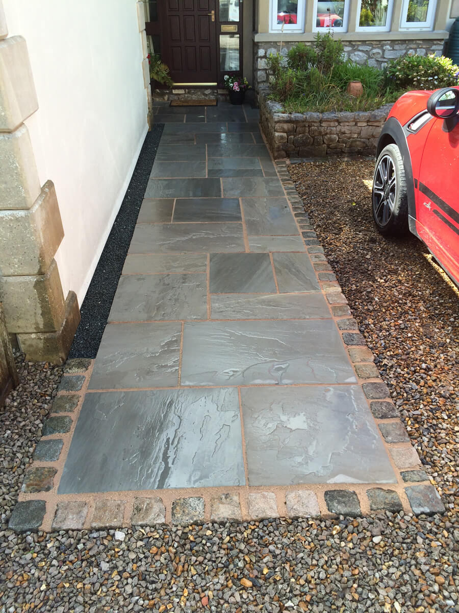 Indian Sandstone Paving Pathway