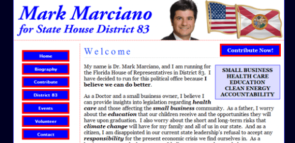 Launch day version: votemarkmarciano.com