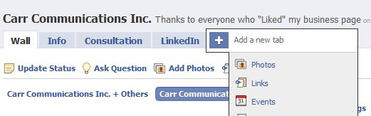 Adding Tabs to the Carr Communications page