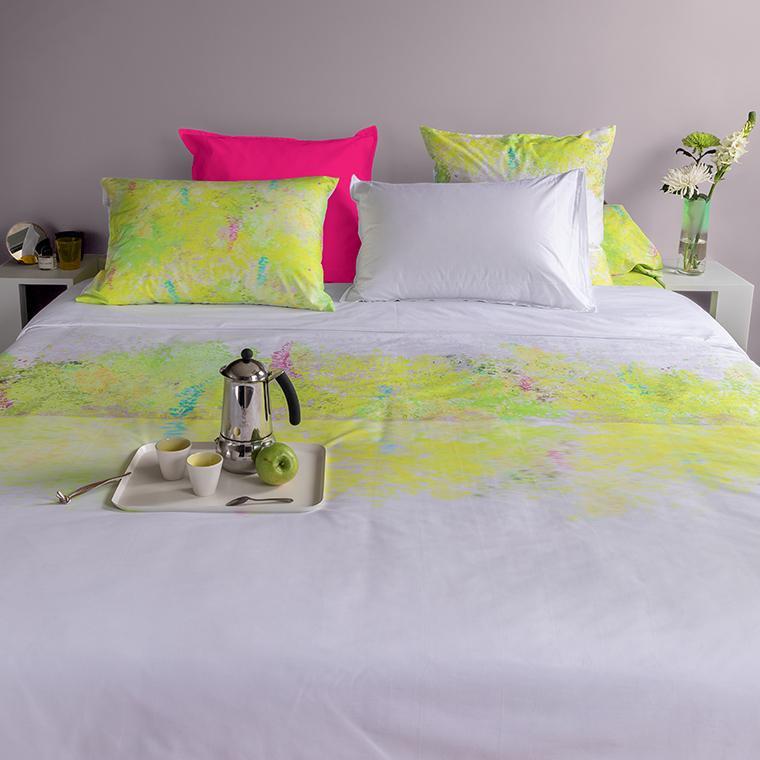 parure de lit percale de coton imprimee paysage infusion urbain