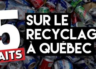 5 faits sur le recyclage à Québec