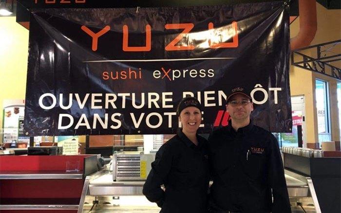 Comptoir de Yuzu sushi au IGA Coop Charlesbourg