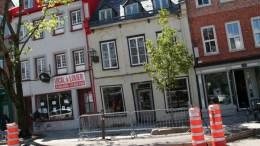 Édifice du Vieux-Québec qui tombe en ruine