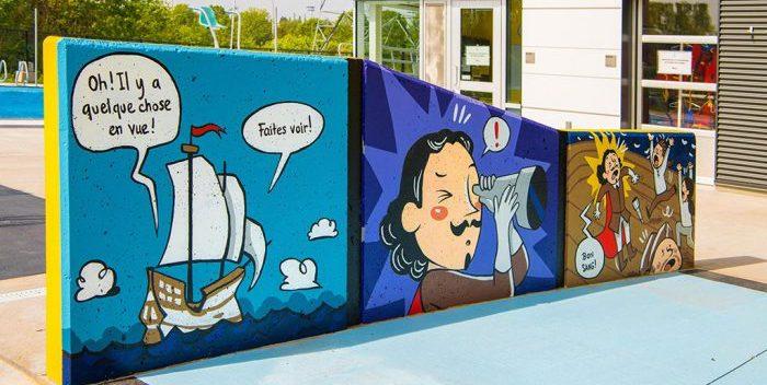 Une BD teintée par l'histoire à la piscine de Lebourgneuf
