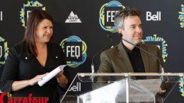 Anne Hudon et Louis Bellavance du FEQ