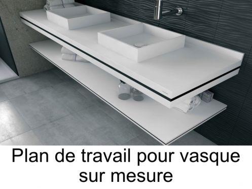 Plan De Toilette Sur Mesure En Solid Surface Pour Vasque De Salle De Bain A Poser Puzzle