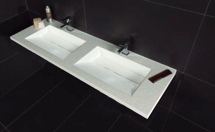 Vasques Largeur 140 Plan Double Vasques Suspendue Ou