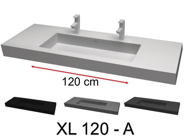 Double Vasque 140 Cm Grand Bassin De 120 Cm Suspendue Ou A Poser Dans Un Meuble De Salle De Bains Xl 120 A