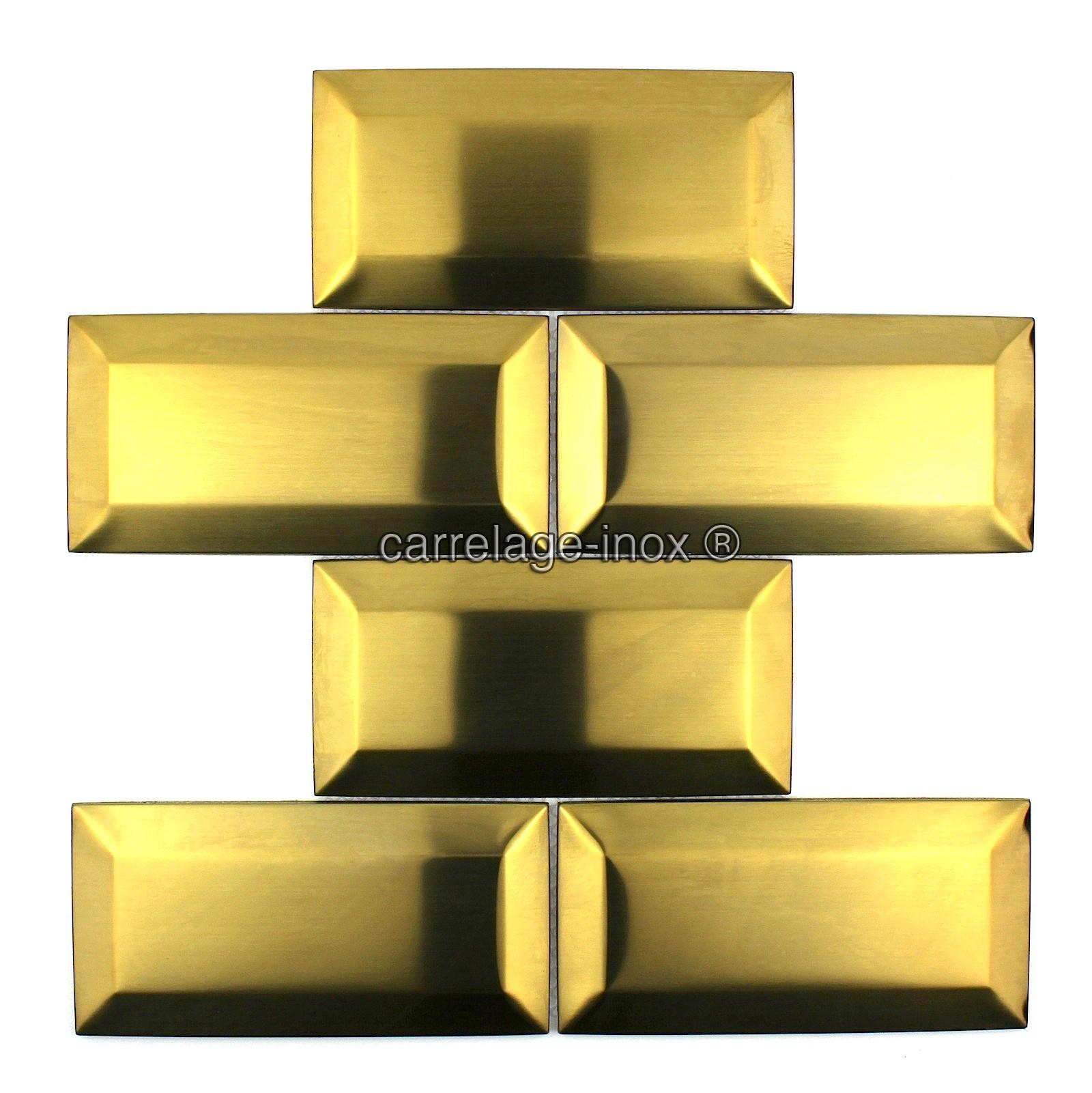 Carrelage Cuisine Credence Inox Mosaique Cm Metro Gold