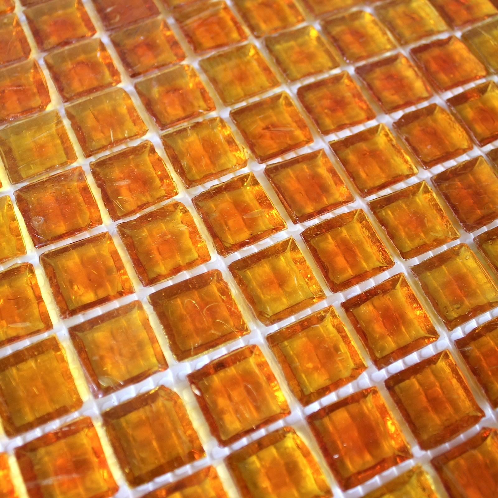 mosaique de verre de salle de bain et cuisine 1m crystal orange carrelage mosaique
