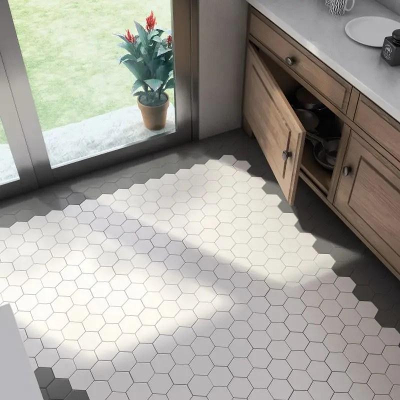 carrelage hexagonal gres cerame scale 11 6x10 1 blanc mat