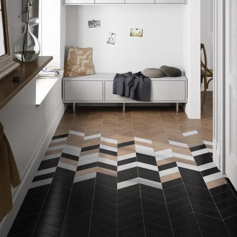 carrelage chevron right left 9x20 5 noir mat carrelages 3d