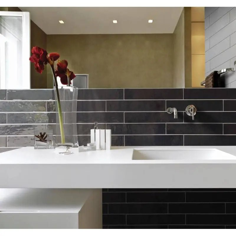 faience unie 13 2x40 country anthracite