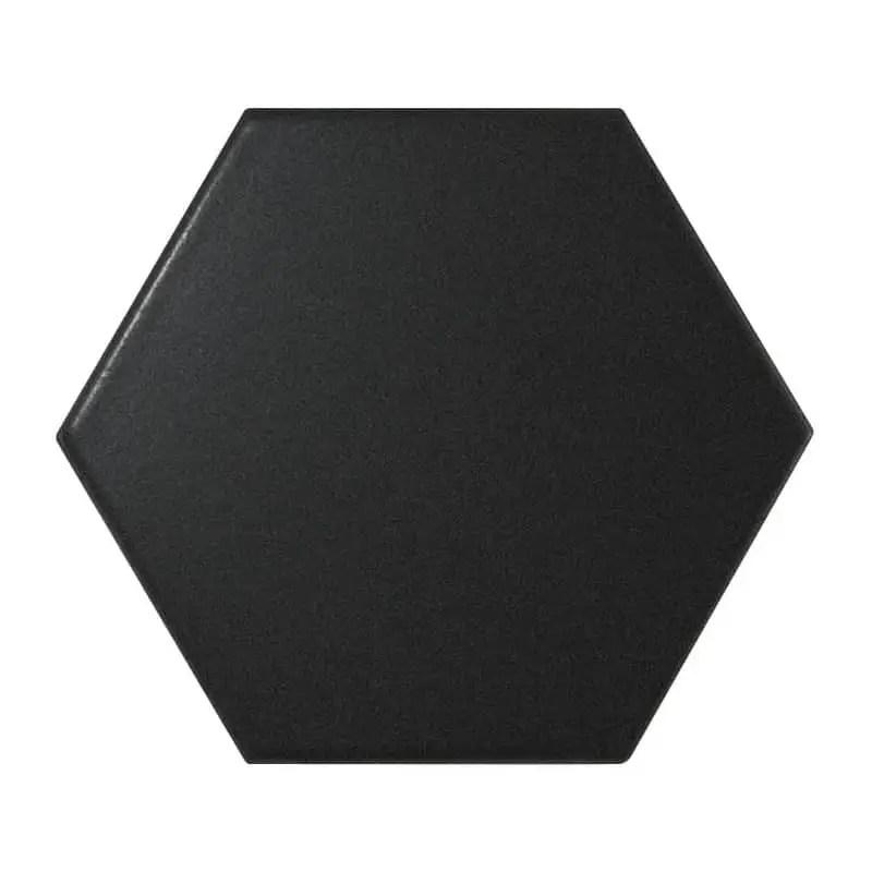 carrelage hexagonal noir matt scale 12 4x10 7 carrelages 3d