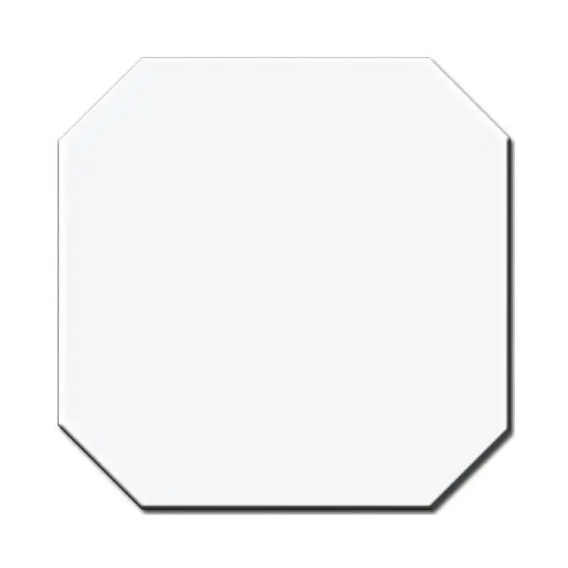 carrelage octogone 20x20 blanc brillant a cabochon noir
