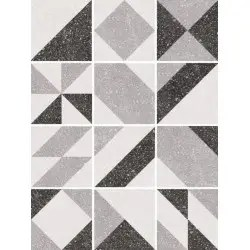 carrelage 20x20 a motif geometrique element grey