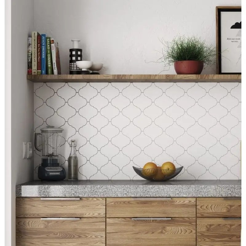 faience zellige arabesque scale alhambra blanc mat 12x12 carrelages 3d