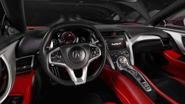 Interior of the new Honda NSX