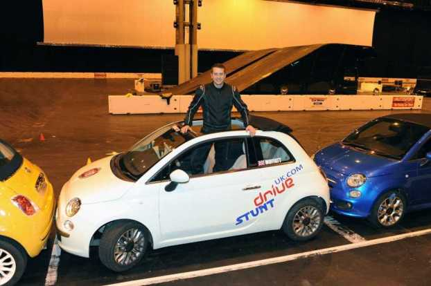 Alistair Moffatt with the record-breaking Fiat 500