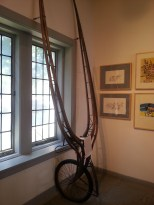 Single wheeled sulky at the Harness Racing Museum & Hall of Fame