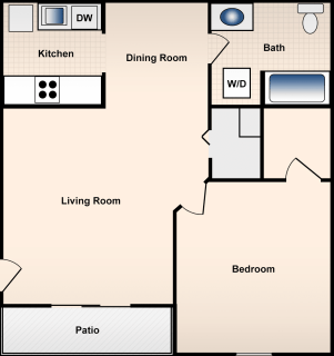 1 Bed / 1 Bath / 900 ft² / Deposit: $300 / Rent: $680