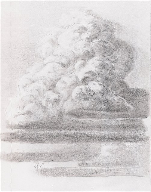 Drawing Mini Clinic - How to Draw Thunderhead Clouds, Demo 1, Part 6